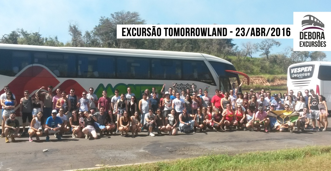 Excursao Tomorrowland Campinas - 23 abril