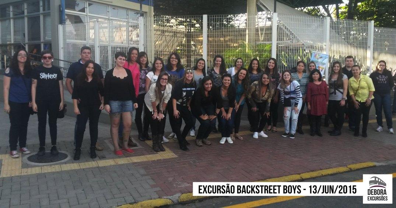 Excursão Backstreet Boys - 13 junho 2015