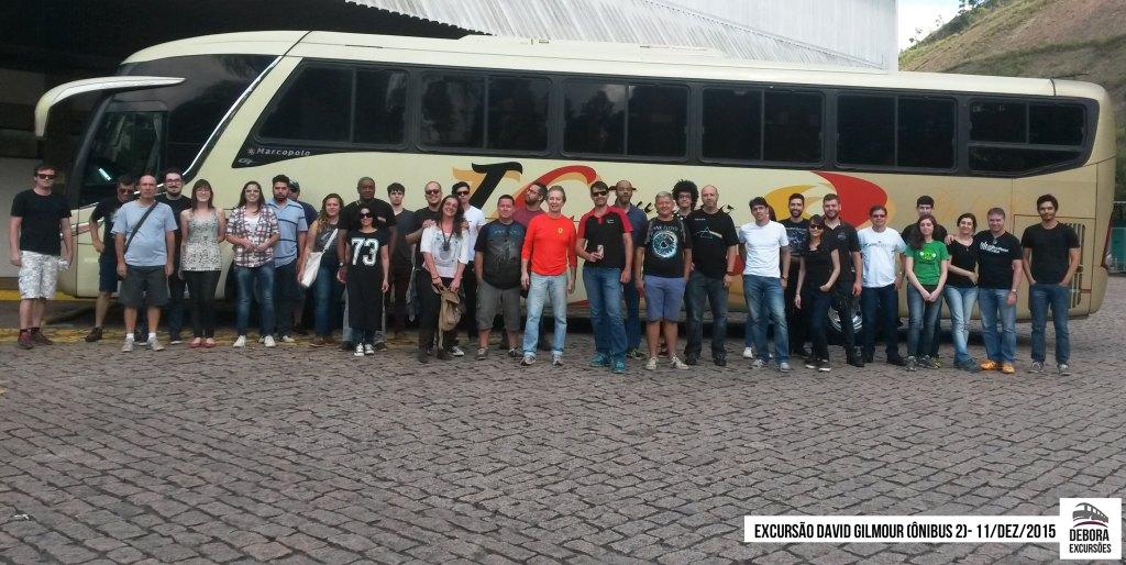 Excursão David Gilmour - 11 dezembro 2015 Bus 2