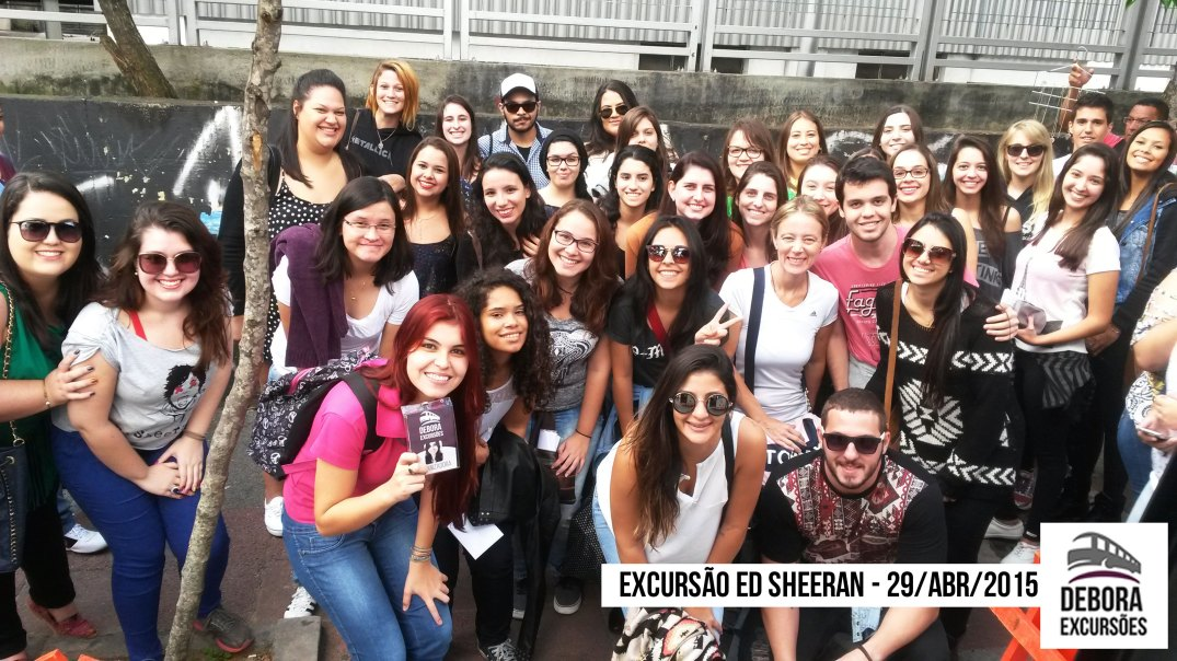 Excursão Ed Sheeran - 29 abril 2015