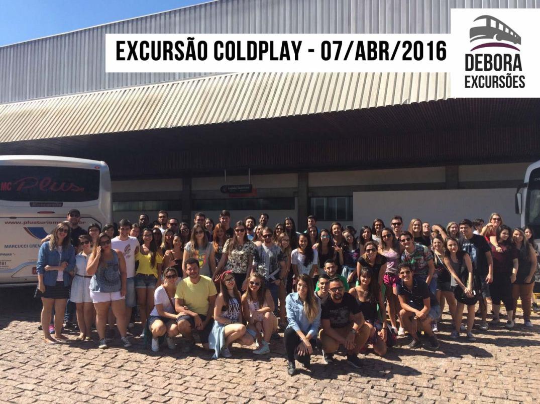 Excursão Coldplay - Saída 13hs