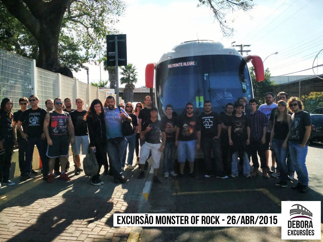 Excursão Monster of Rock - 26 abril 2015