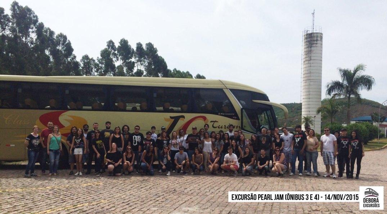 Excursão Pearl Jam Ônibus 3 e 4 - 14 novembro 2015