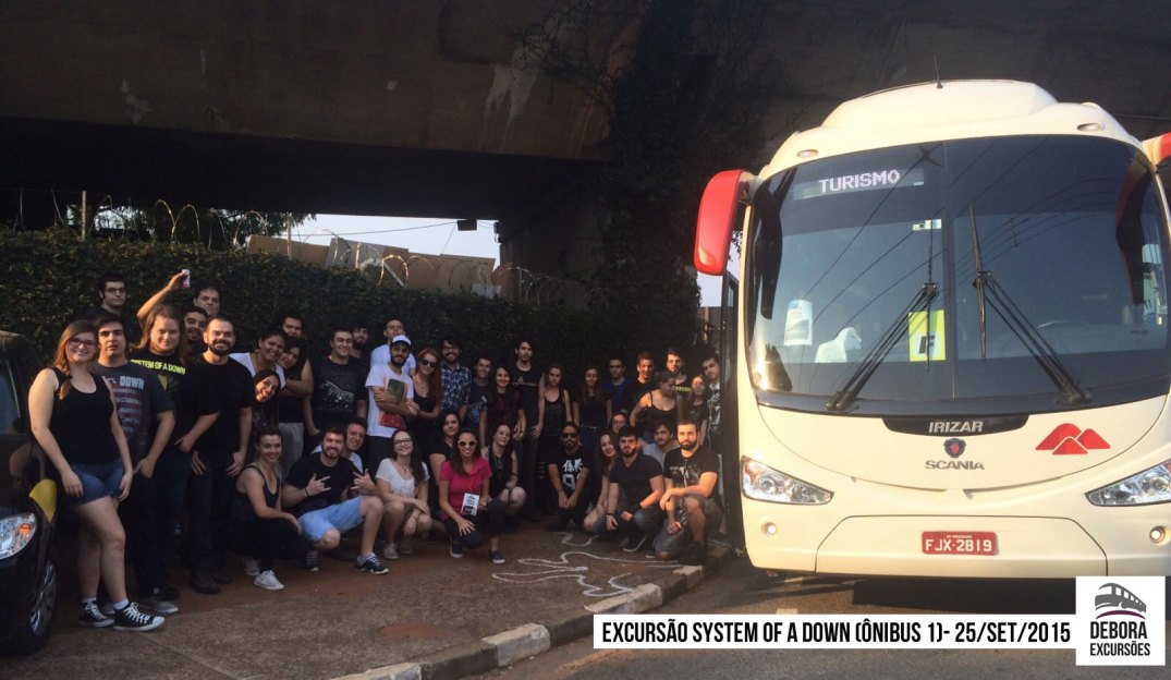 Excursão System of a Down - 25 setembro 2015 BUS 1