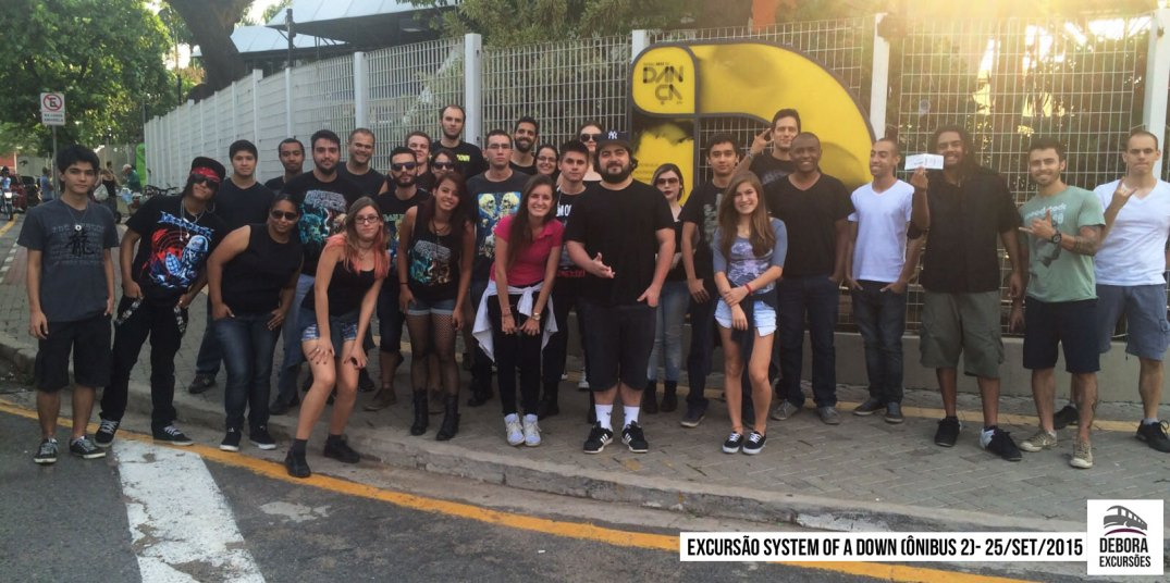 Excursão System of a Down - 25 setembro 2015 BUS 2